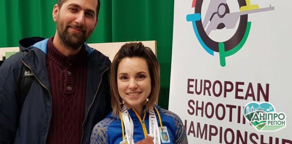 Спортсменка з Дніпропетровщини здобула п'ять медалей на чемпіонаті Європи з кульової стрільби