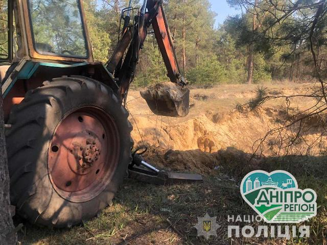 В смт.Обухівка затримали чоловіка за незаконне видобування піску