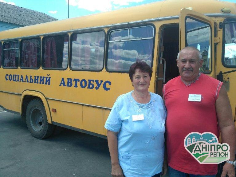 У Юр'ївській громаді на Дніпропетровщині запустили автобус для пільговиків