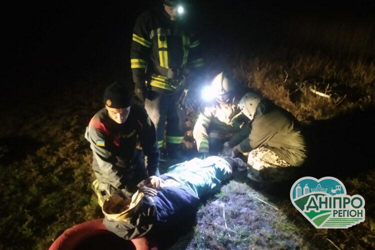 Оце так порибалив: у Софіївці на Дніпропетровщині рибалка застряг у багнюці