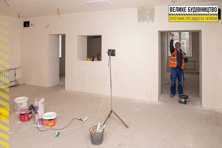 Реконструкція приймального відділення Нікопольської міської лікарні №4 йде повним ходом