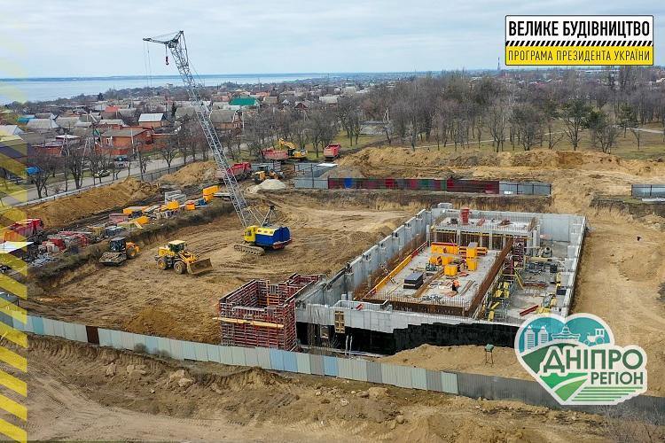 На Дніпропетровщині будують новий та сучасний спорткомплекс із басейном