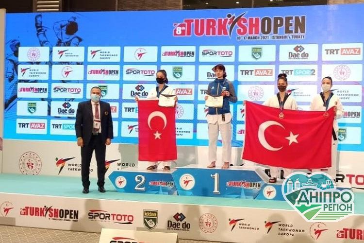 Дніпрянка здобула перемогу на міжнародному турнірі з тхеквондо ВТФ