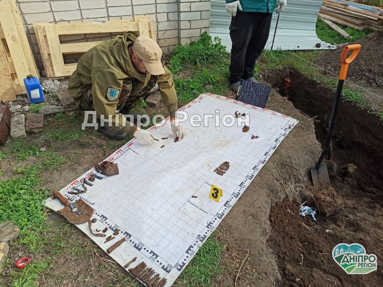 У Дніпрі вилучили останки воїна Другої Світової війни на території садового товариства (Фото)